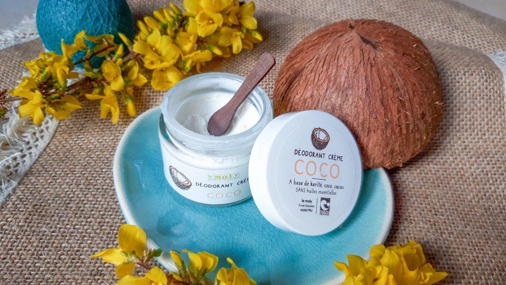 Déodorant coco sans huiles essentielles, Le Moly