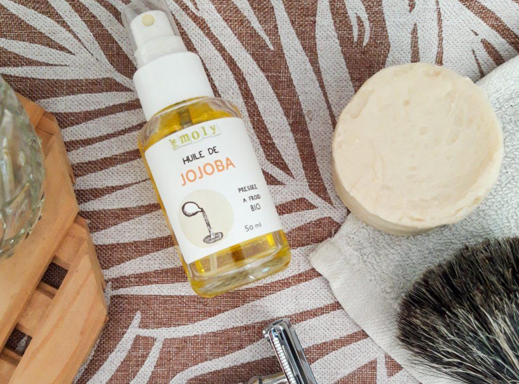 Rasoir Zéro Déchet - huile de jojoba Le Moly et Savon à barbe